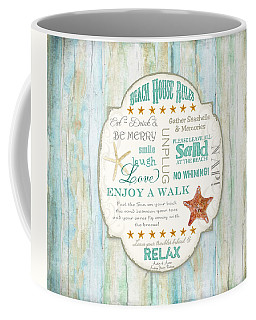 Beach House Rules - Refreshing Shore Typography Coffee Mug