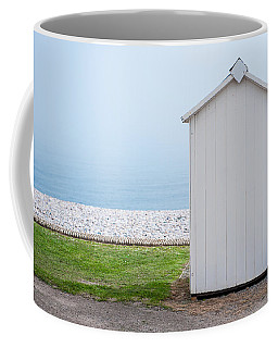Beach Hut By The Sea Coffee Mug