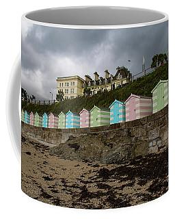 Beach Huts Castle Beach Falmouth Coffee Mug