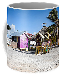 Beach Huts Coffee Mug by Lawrence Burry