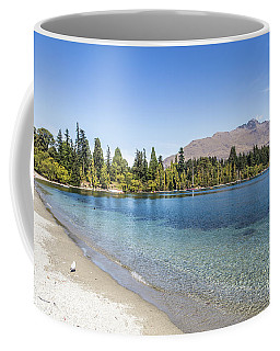Beach In Queenstown, New Zealand Coffee Mug