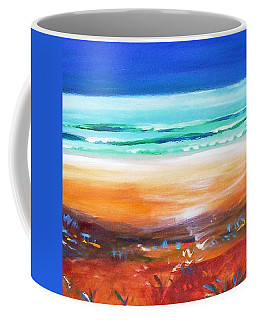 Coffee Mug featuring the painting Beach Joy by Winsome Gunning