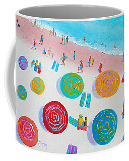 Beach Painting - A Walk In The Sun Coffee Mug