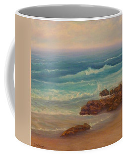 Beach Painting Beach Rocks  Coffee Mug
