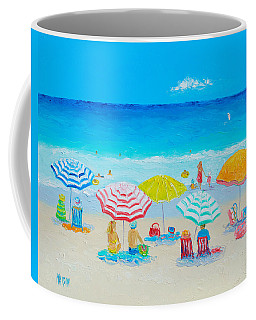 Beach Painting - Catching The Breeze Coffee Mug by Jan Matson