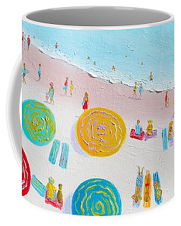 Beach Painting - The Simple Life Coffee Mug by Jan Matson