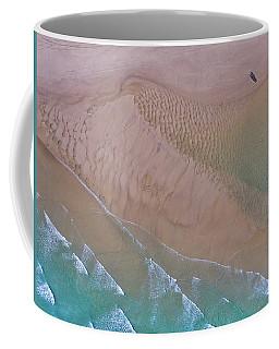 Beach Patterns At North Point On Moreton Island Coffee Mug