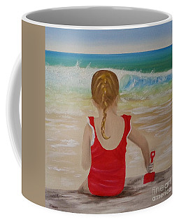 Beach Play Coffee Mug by Bev Conover