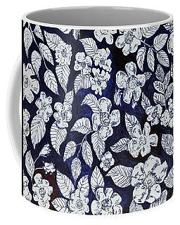 Beach Rose Pattern Coffee Mug