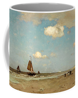 Coffee Mug featuring the painting Beach Scene by Jan Hendrik Weissenbruch
