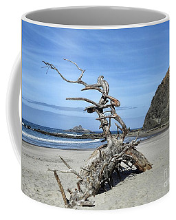 Coffee Mug featuring the photograph Beach Sculpture by Peggy Hughes