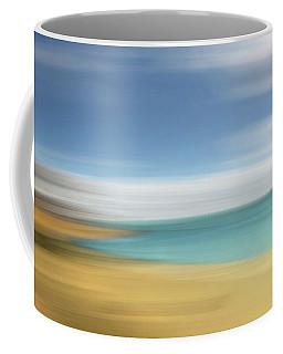 Beach Seascape Abstract Coffee Mug by Gill Billington