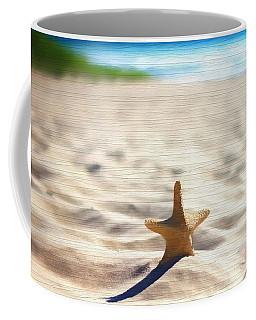 Beach Starfish Wood Texture Coffee Mug by Dan Sproul