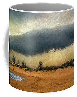 Coffee Mug featuring the photograph Beach Storm At Sunset By Kaye Menner by Kaye Menner