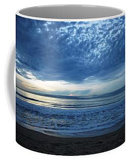 Beach Sunset - Blue Clouds Coffee Mug