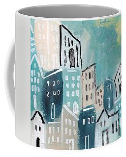 Beach Town- Art By Linda Woods Coffee Mug