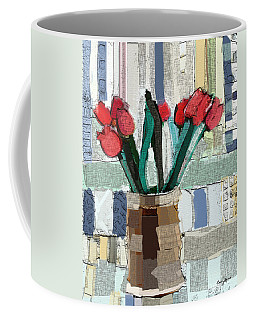 Beach Tulips Coffee Mug by Carrie Joy Byrnes