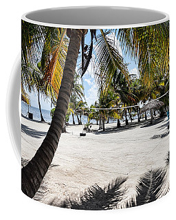 Coffee Mug featuring the photograph Beach Volleyball Court by Lawrence Burry
