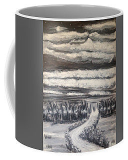 Coffee Mug featuring the painting Beach Walk by Diane Pape