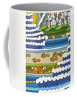 Beach Walk Foot Prints Coffee Mug