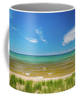 Beach With Blue Skies And Cloud Coffee Mug