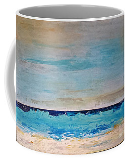 Coffee Mug featuring the painting Beach1 by Diana Bursztein