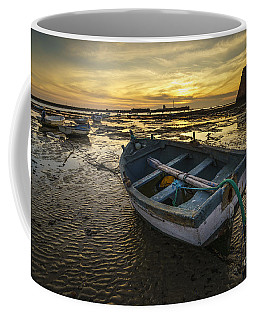 Beached Boat On La Caleta Cadiz Spain Coffee Mug