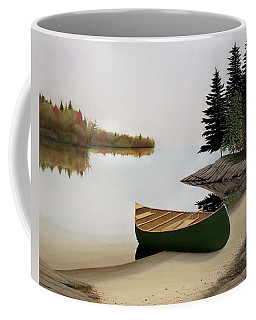 Beached Canoe In Muskoka Coffee Mug by Kenneth M  Kirsch