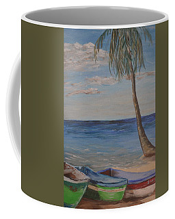 Coffee Mug featuring the painting Beached by Debbie Baker