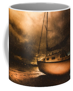Coffee Mug featuring the photograph Beached Sailing Boat by Jorgo Photography - Wall Art Gallery