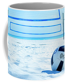 Coffee Mug featuring the photograph Volleyball On The Beach by Randy Bayne