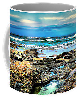 Coffee Mug featuring the photograph Beachscape At Hungry Head  by Wallaroo Images