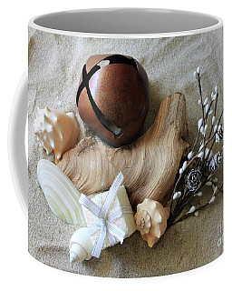 Beachy Christmas Still Life Coffee Mug
