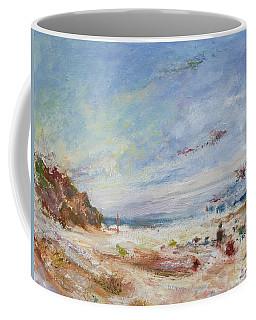 Beachy Day - Impressionist Painting - Original Contemporary Coffee Mug