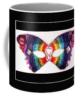 Beaded Butterfly Mask Coffee Mug
