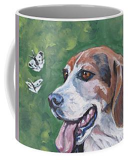 Beagle And Butterflies Coffee Mug