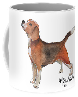 Beagle Watercolor Painting By Kmcelwaine Coffee Mug