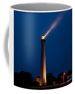 Coffee Mug featuring the photograph Beam Of Light At Cape May by Nick Zelinsky