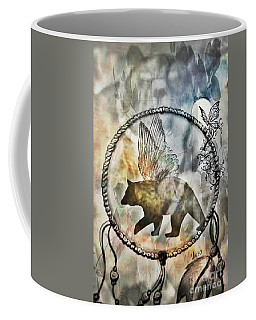 Coffee Mug featuring the photograph Bear Dreamcatcher by Maria Urso
