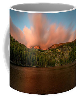 Coffee Mug featuring the photograph Bear Lake's Hallett Peak #1 by John Gilbert