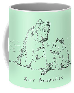 Coffee Mug featuring the drawing Bear Necessities by Denise Fulmer