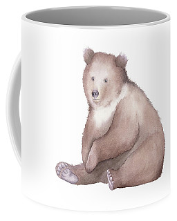 Bear Watercolor Coffee Mug by Taylan Apukovska