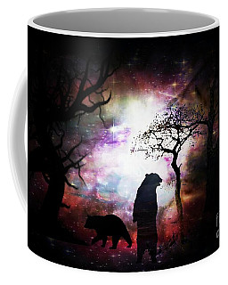 Coffee Mug featuring the digital art Bears Night Out by Maria Urso