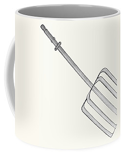 Coffee Mug featuring the drawing Beat It by Jean Haynes