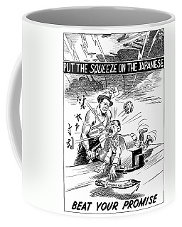 Beat Your Promise Cartoon  Coffee Mug