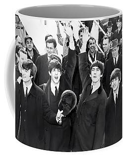 Beatles Arrive In New York  1964 Coffee Mug