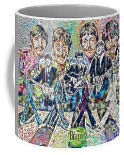 Beatles Tapestry Coffee Mug by Dave Luebbert