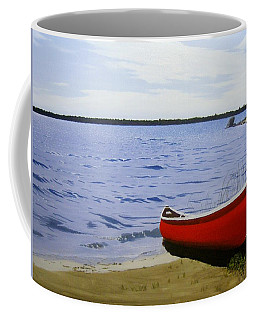 Beaultiful Red Canoe Coffee Mug by Kenneth M  Kirsch