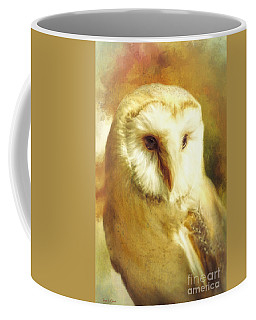 Beautiful Barn Owl Coffee Mug by Tina LeCour