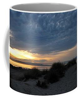 Beautiful Beach San Dunes Sunset And Clouds Coffee Mug